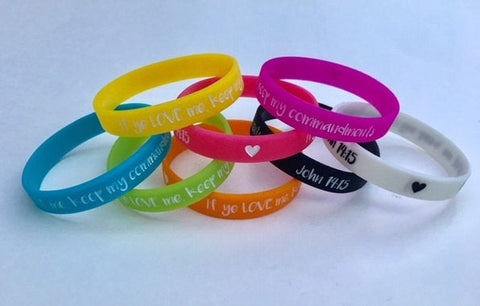 "2019 ""If Ye Love Me..."" LARGE Youth Theme Wristbands - YW/YM"