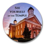"See yourself in the Temple 1.5"" MAGNET"