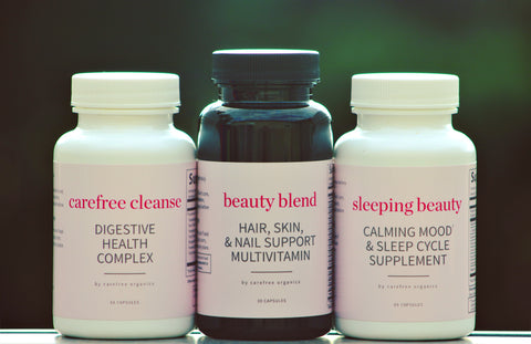 Beauty Boost Supplement Bundle, a pack of 3 glowing supplements