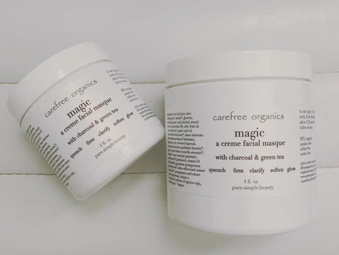 Magic, a charcoal creme masque, 4-8 fl oz