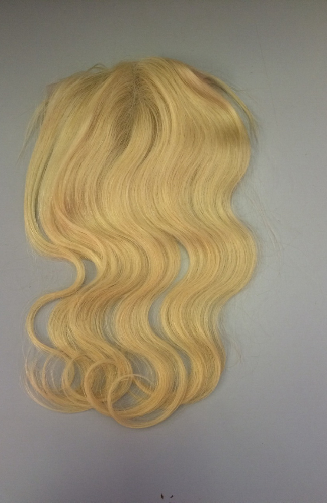 Blonde Brazilian straight  top closure piece