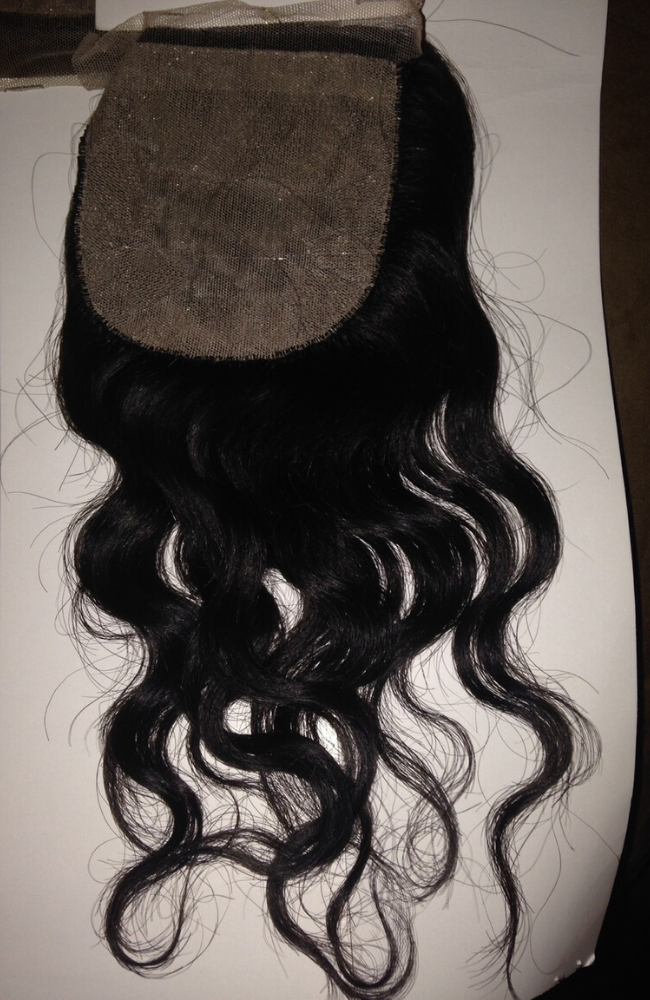 Brazilian deep wave SILK closure piece