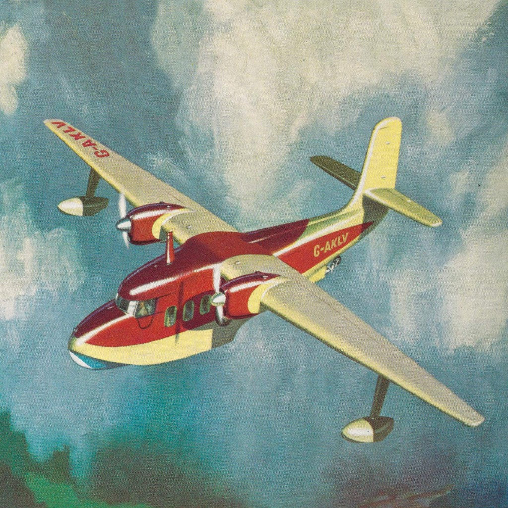 Plane detail from the cover of The Man Who Didn't Fly