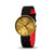 Brass and Black Newgate Watch Leather Brass