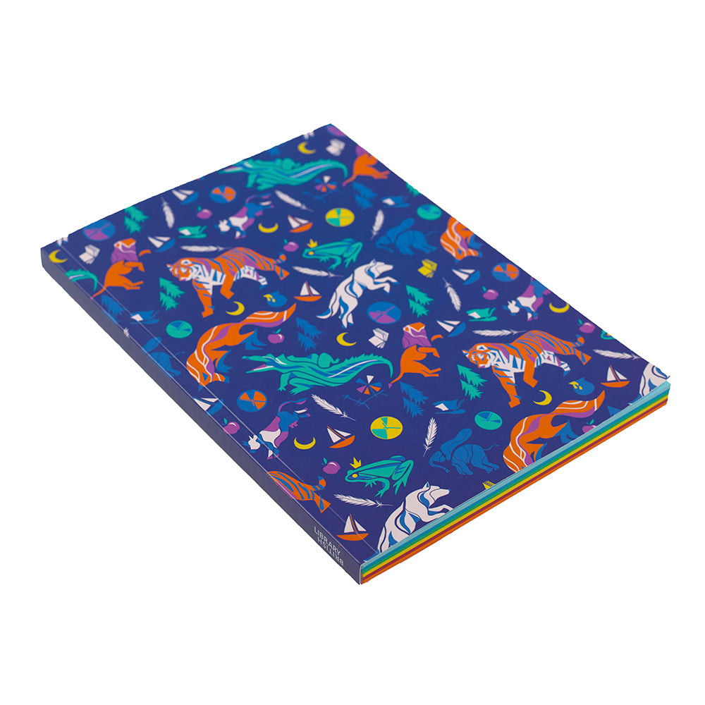 Children's Tales Colour Paper Notebook from side