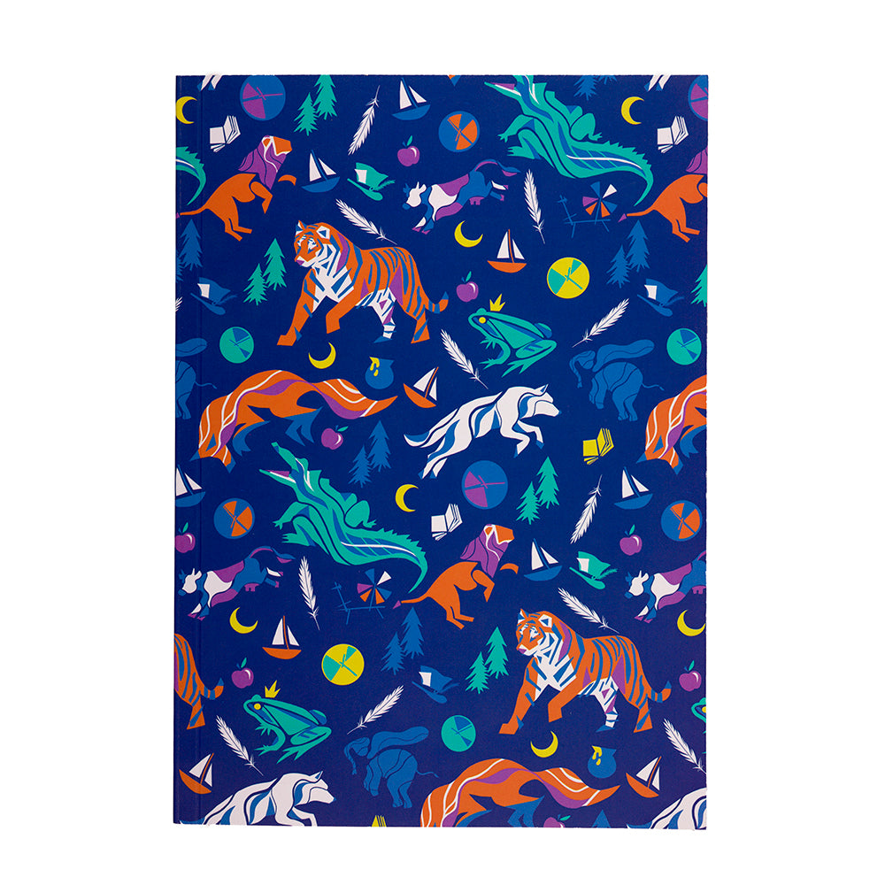 Children's Tales Colour Paper Notebook Front Cover