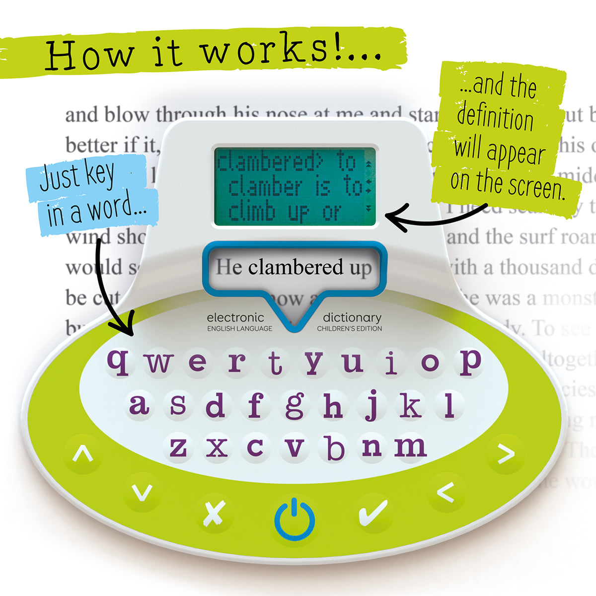 Image of Children's Electronic Dictionary Bookmark functionality