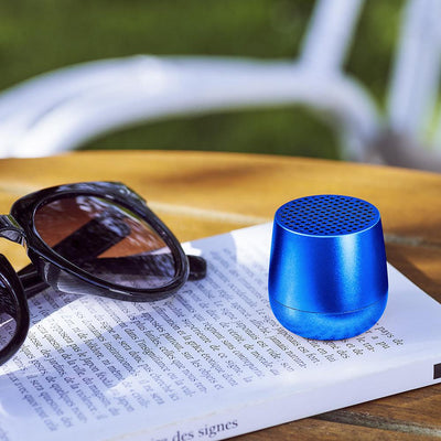 Mino Bluetooth Speaker Blue lifestyle shot