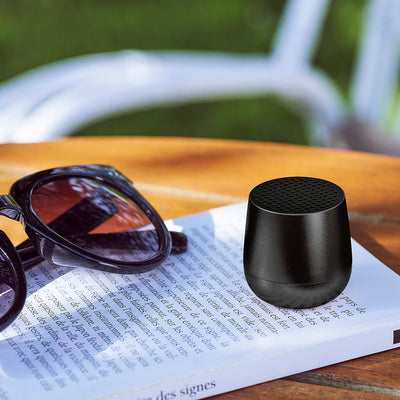 Mino Bluetooth Speaker Black lifestyle shot