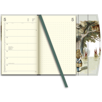 Alice in Wonderland British Library 2021 Pocket Diary View of interior