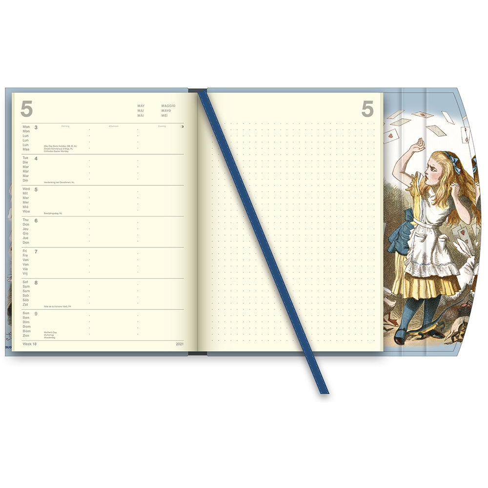 Alice in Wonderland British Library 2021 Large Diary View of interior