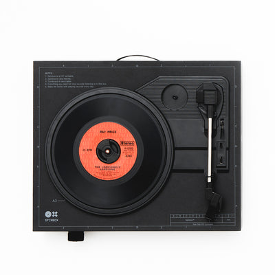 Spinbox DIY Record Player Black Top Image