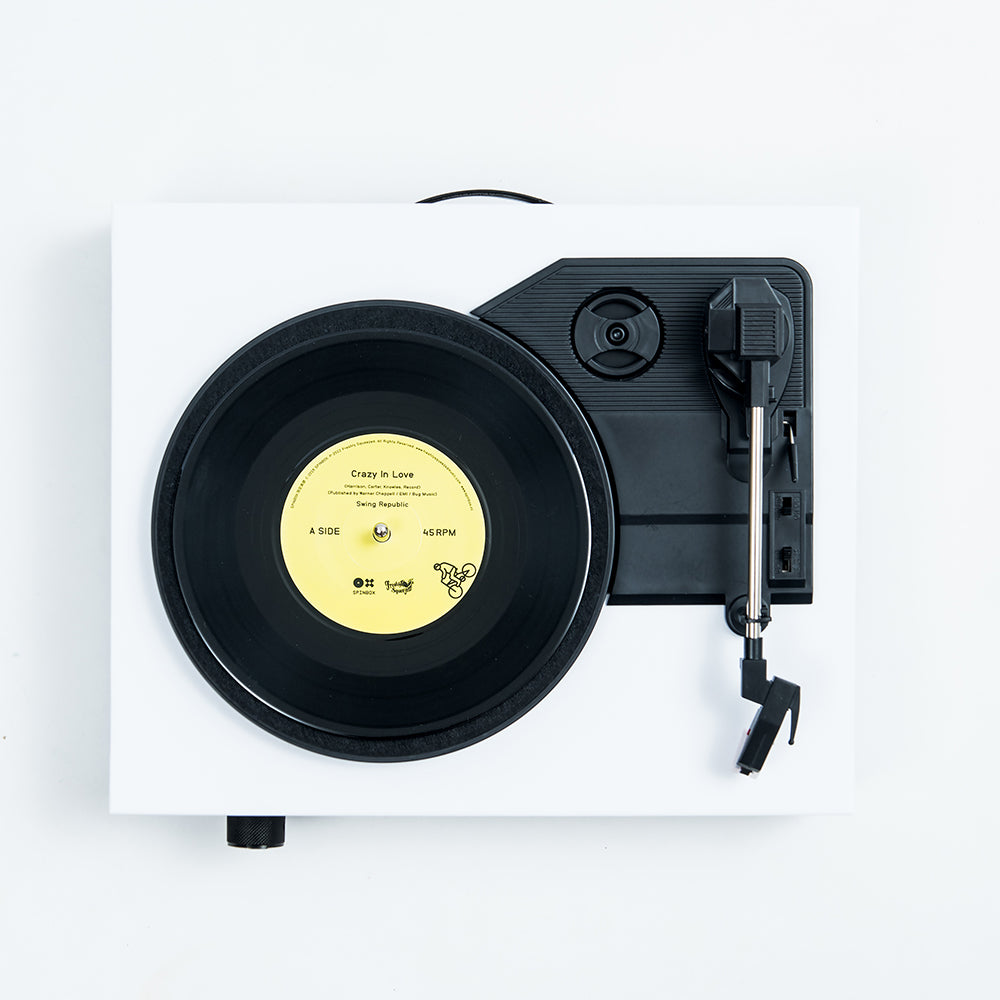 Spinbox DIY Record Player Canvas White Top Image