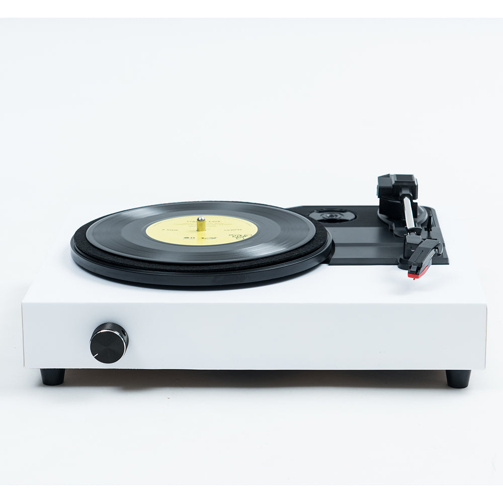 Spinbox DIY Record Player Canvas White Front Angled Image