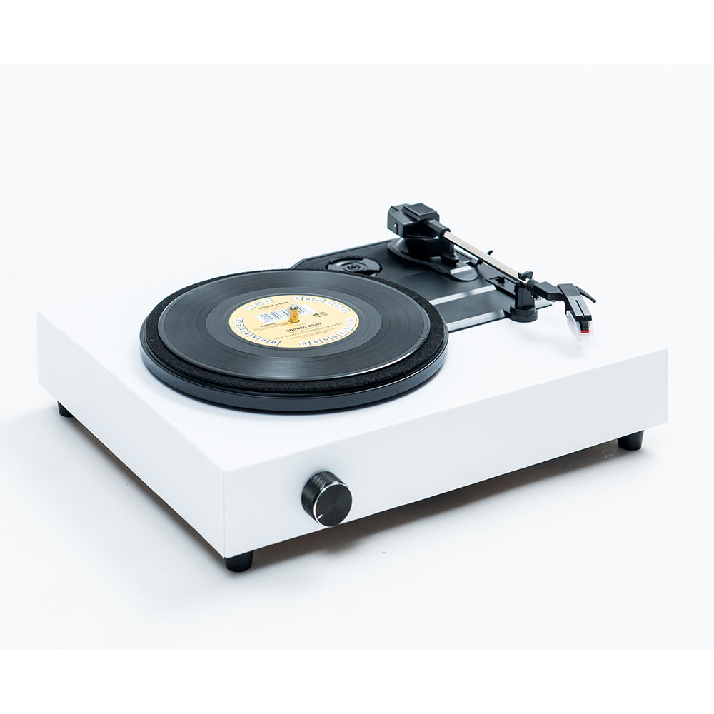 Spinbox DIY Record Player Canvas White Angled Image