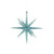 Turquoise Sparkle Star Decoration