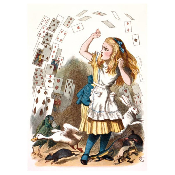 Alice and the Shower of Cards Card