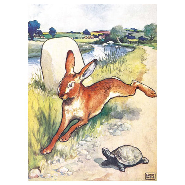 The Hare and the Tortoise Card