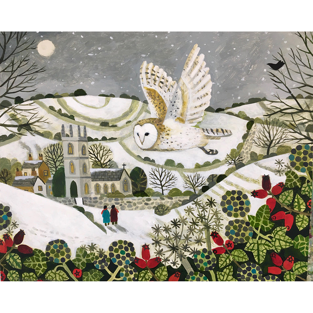 'The Snowy Owl' card design by Vanessa Bowman