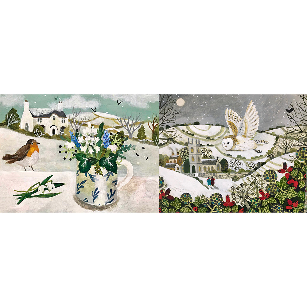 Sarah and Vanessa Bowman Christmas Cards 6 Pack