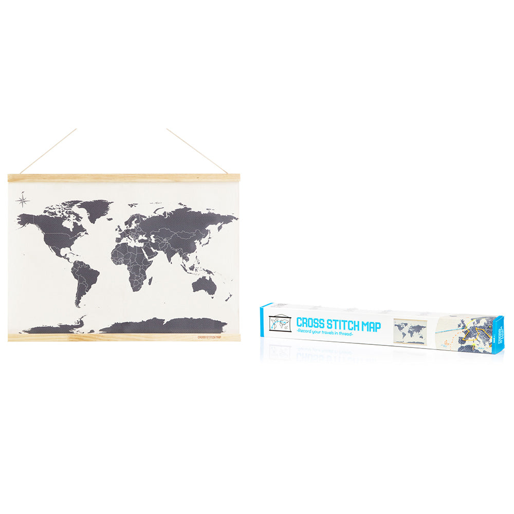 Cross Stitch Map with box