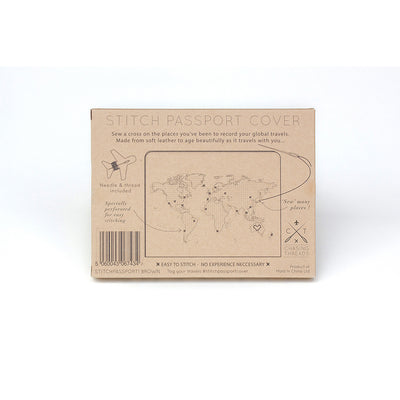 Cross Stitch Passport Cover Brown in Packaging (Back)