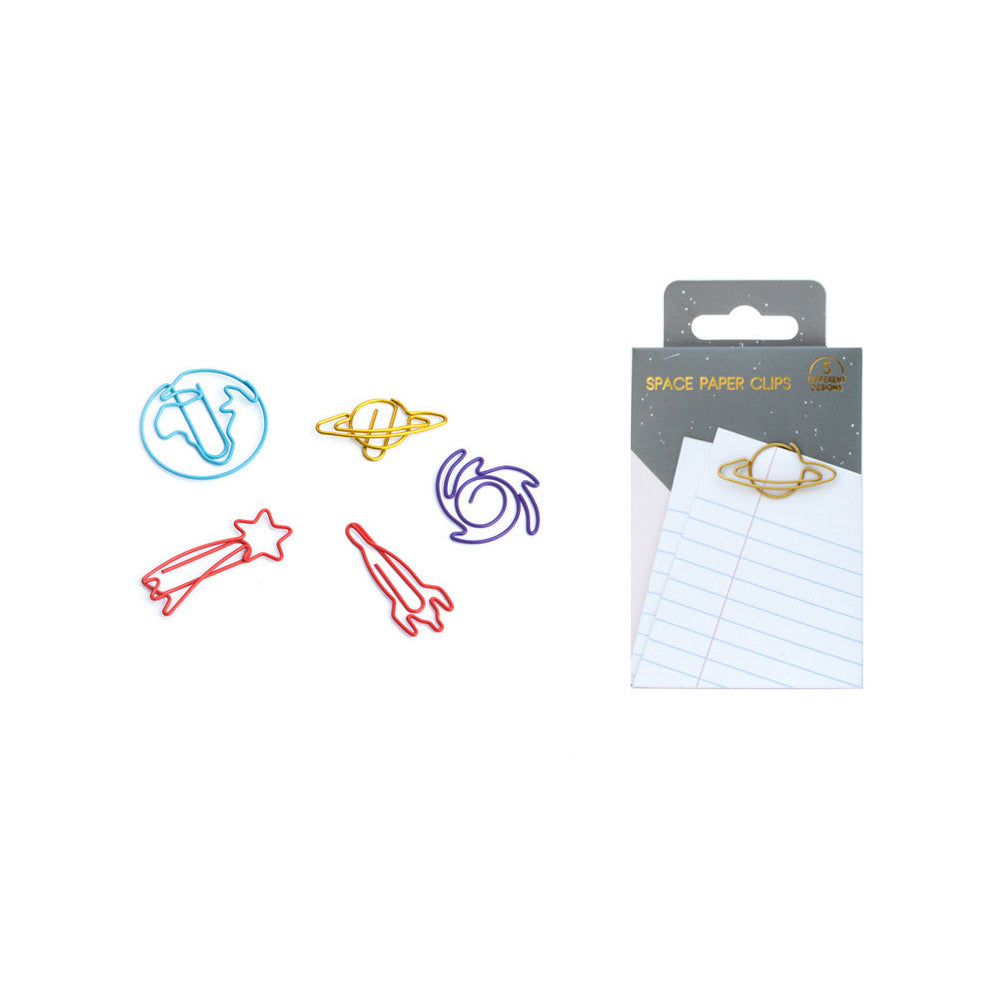 Space Paper Clips with designs