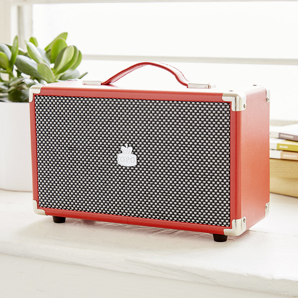 Westwood Bluetooth Speaker Red lifestyle shot