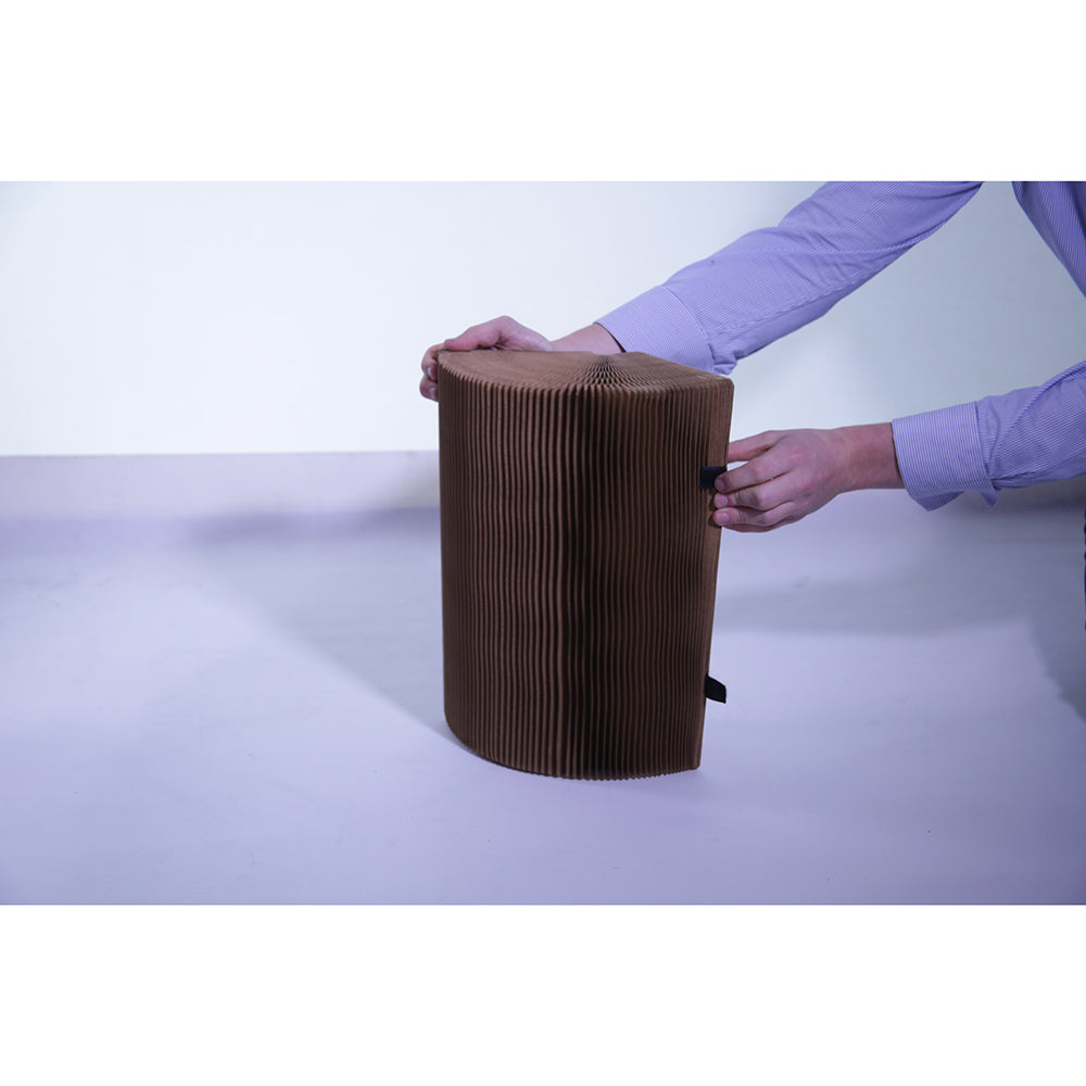 Tall Paper Stool Recycled Partially Open