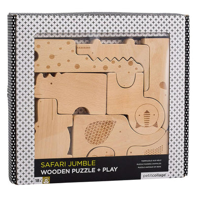 Safari Jungle Puzzle and Play Set in Packaging
