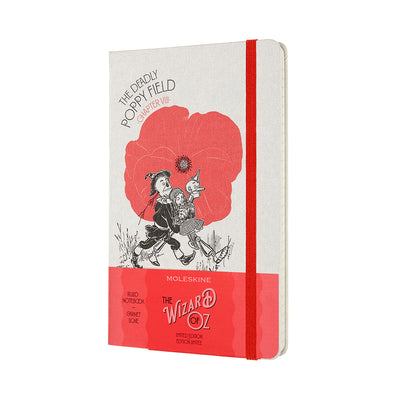 The Wizard of Oz Poppy Field Notebook Cover in Packaging
