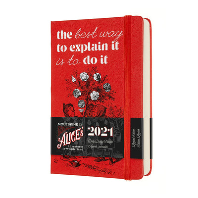 "Alice's Adventures in Wonderland ""The best way"" 12-month Pocket Daily Planner 2021 with packaging"