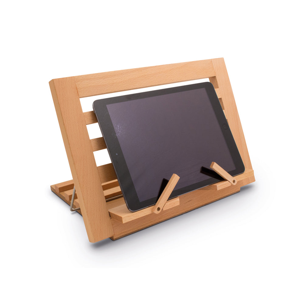 Image of Wooden Reading Rest with tablet
