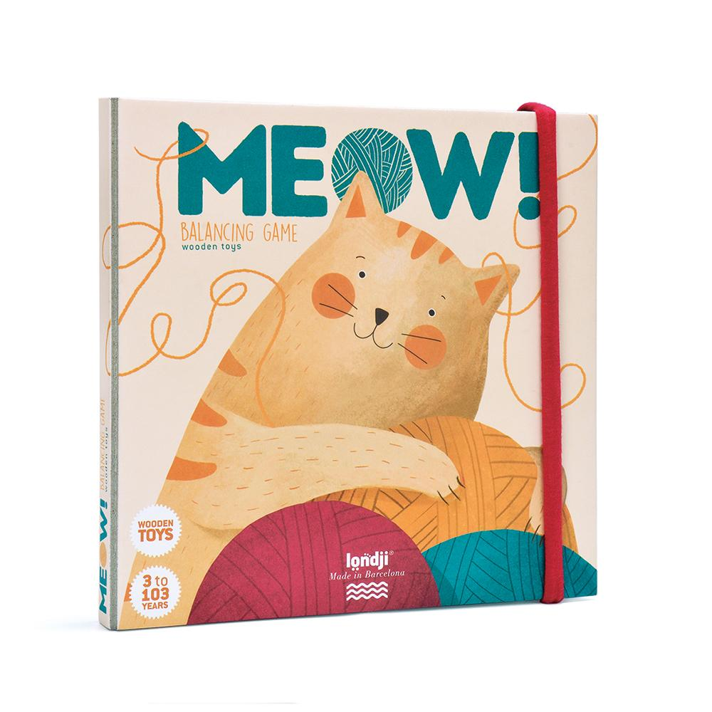 Meow! Cat Balancing Game Packaging Front