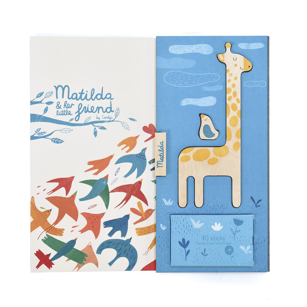 Matilda Giraffe Balancing Game Packaging Inside