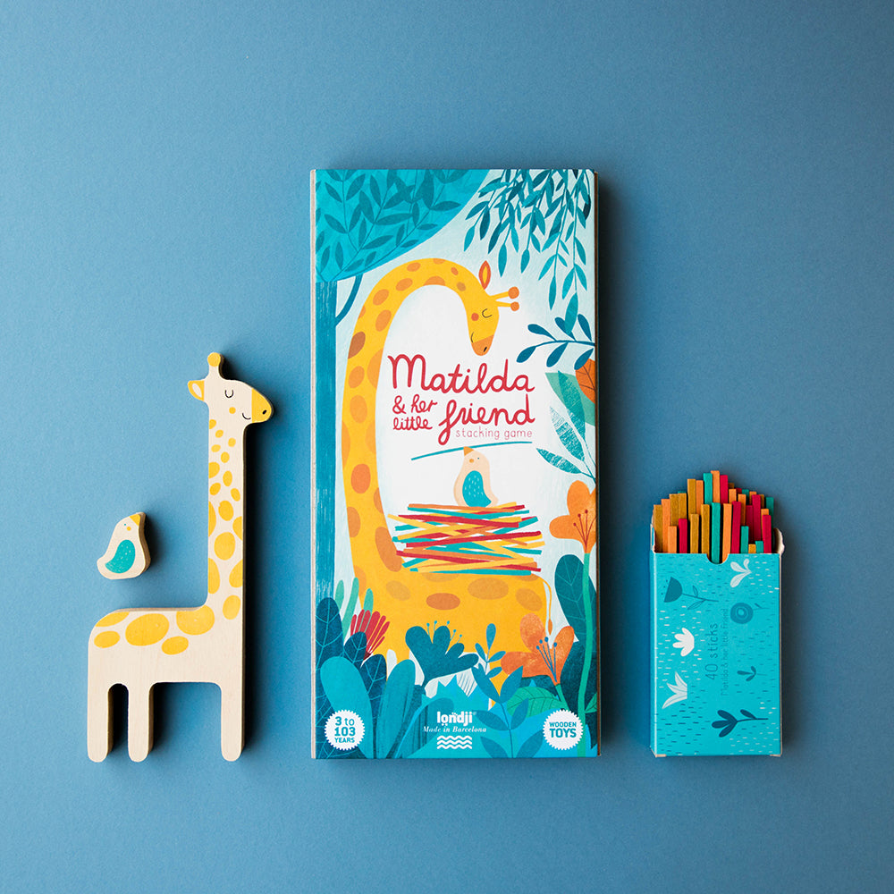Matilda Giraffe Balancing Game Packaging