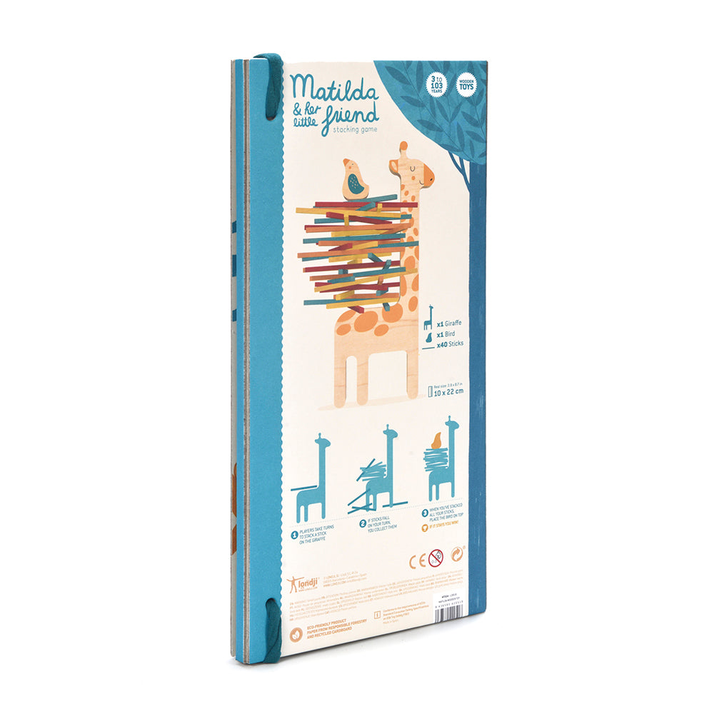 Matilda Giraffe Balancing Game Packaging Back