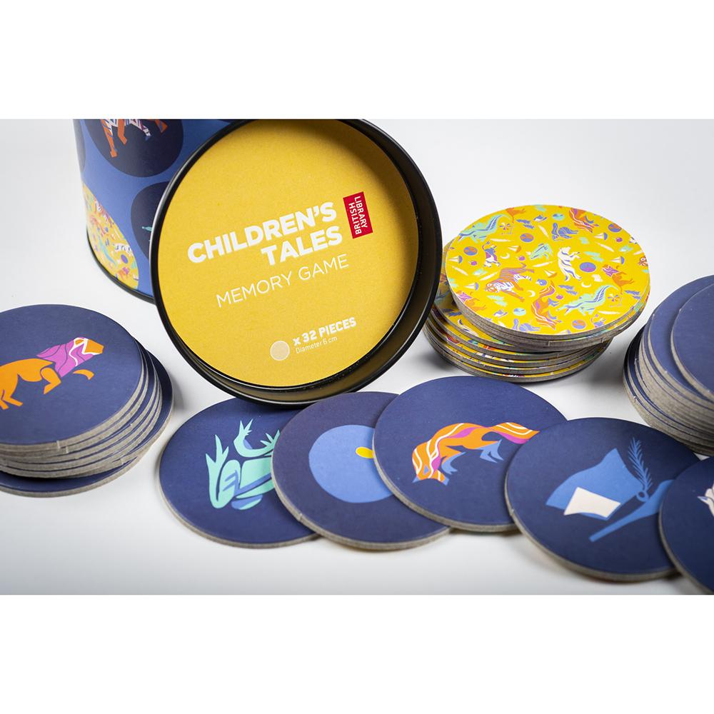Children's Tales Memory Game Packaging with Pieces