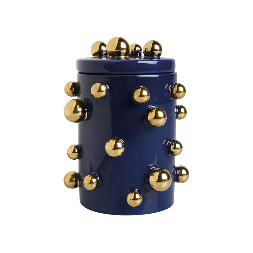 Blue and Gold Storage Jar ceramic
