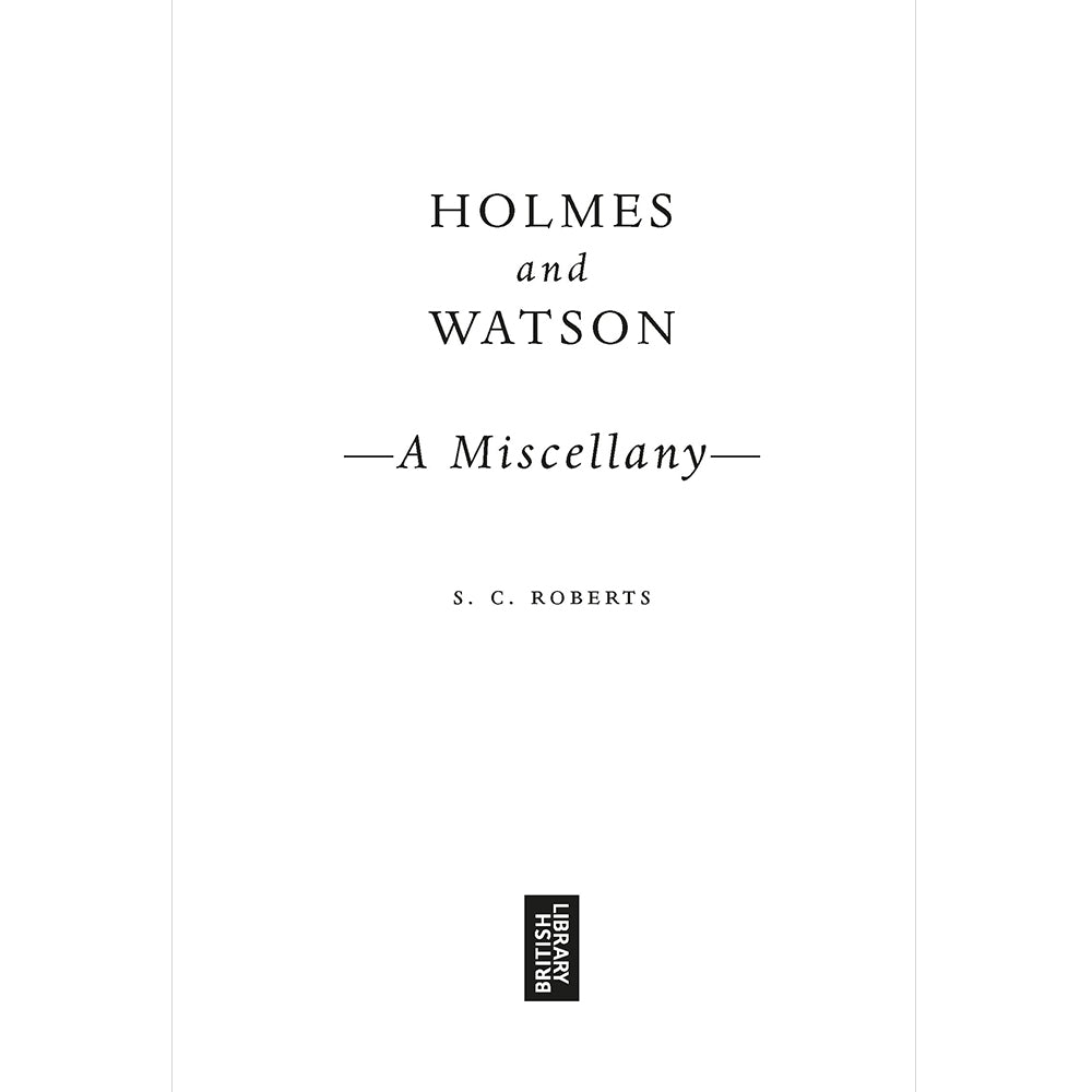 Holmes and Watson Hardback Gift Book Inside Page