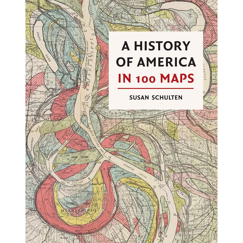 A History of America in 100 Maps Hardback cover