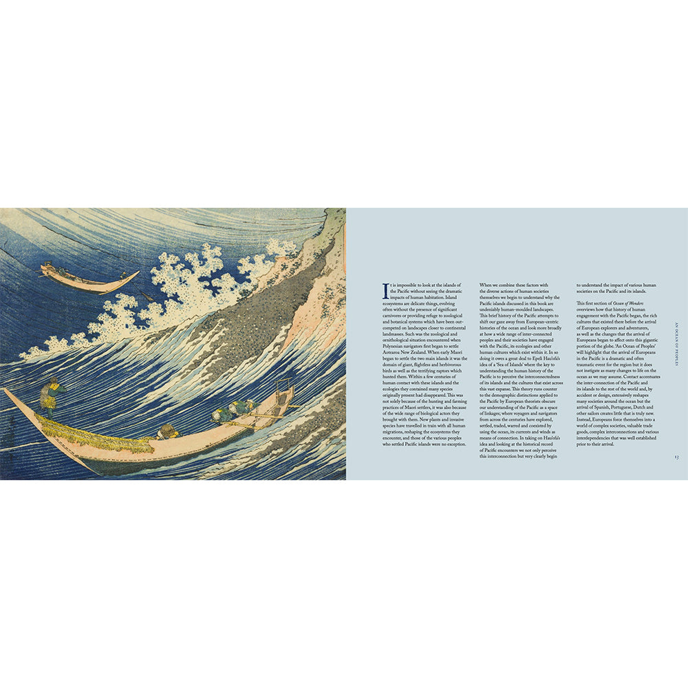 Pacific: An Ocean of Wonders British Library Hardback Inside Pages