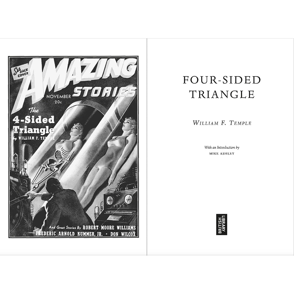 Four-Sided Triangle Paperback British Library Science Fiction Inside Page