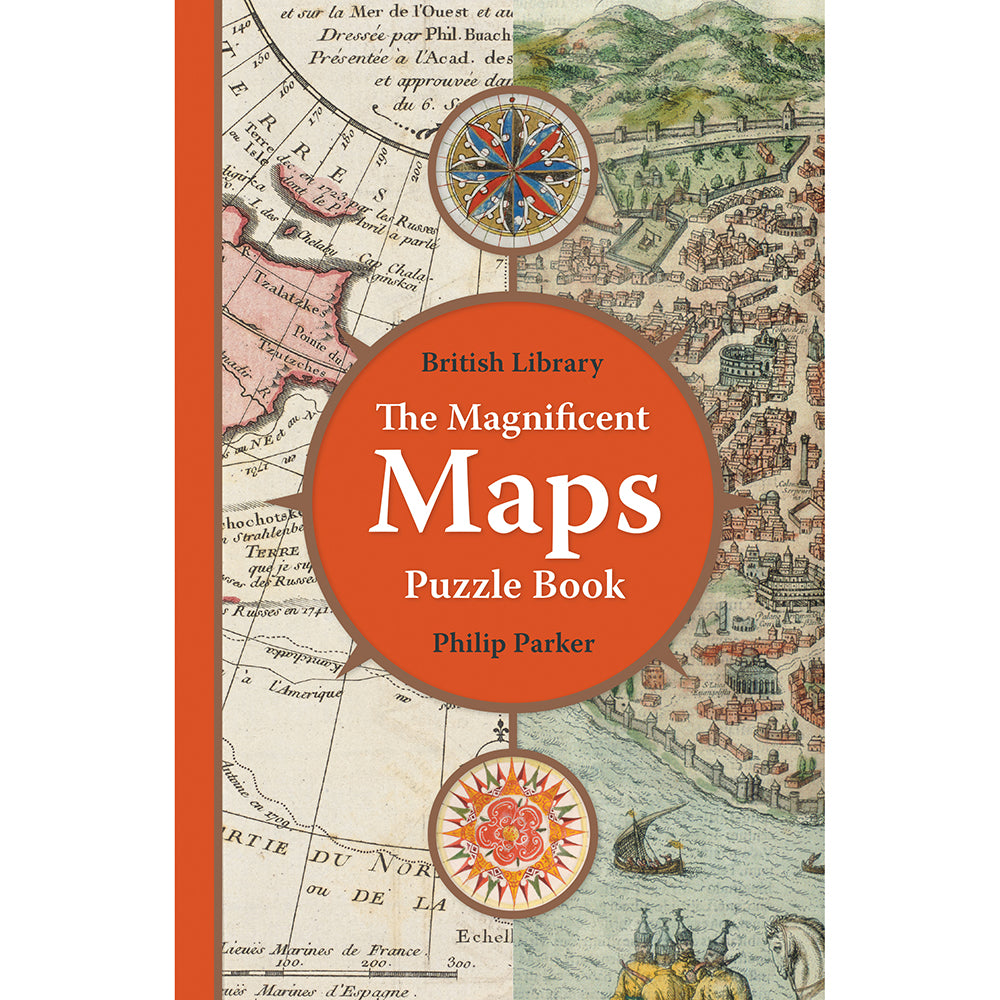 The Magnificent Maps Puzzle Book paperback british library cartography cover
