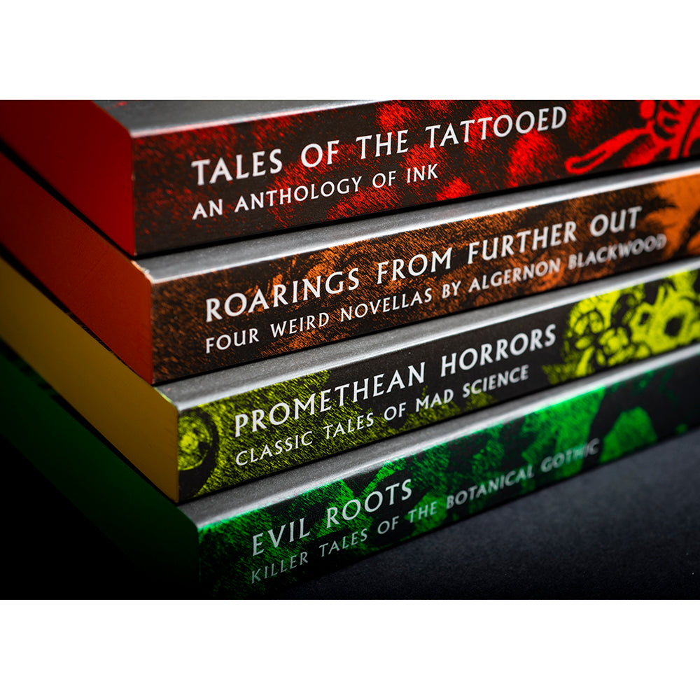 British Library paperback Tales of the Weird Sprayed Edges full set Flat view