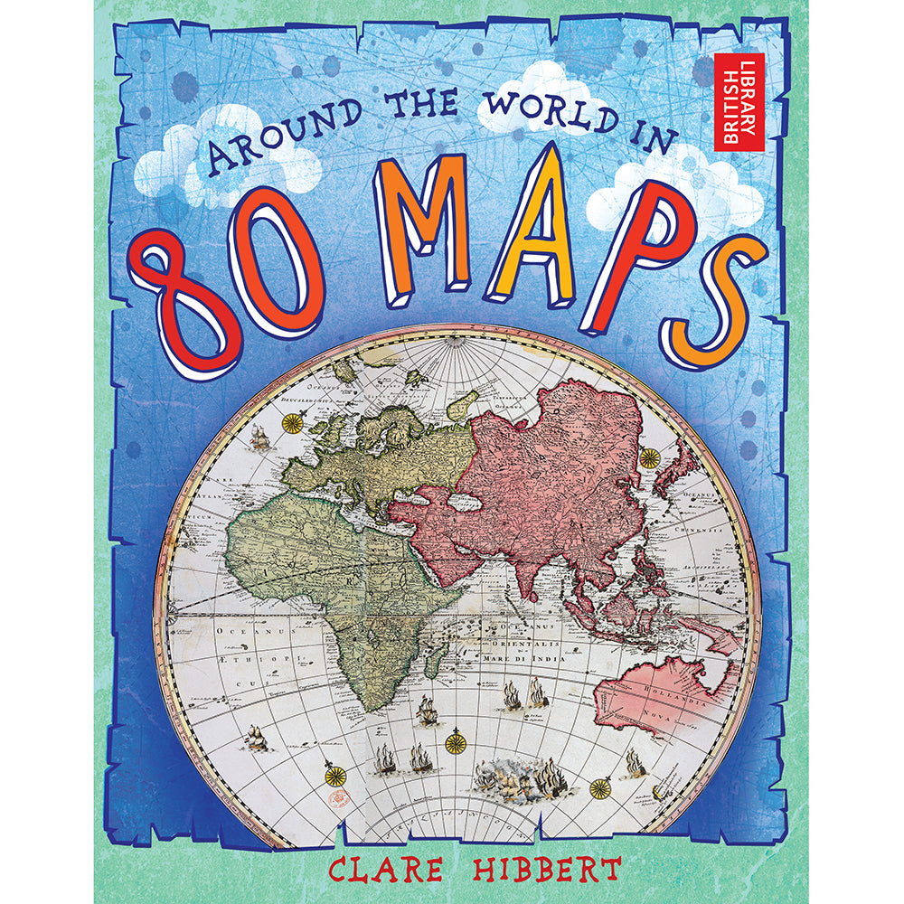 Around the World in 80 Maps Hardcover Children's Book