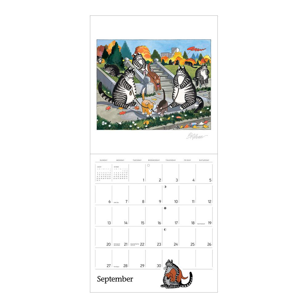 2020 B. Kliban Cat Calendar Open Page