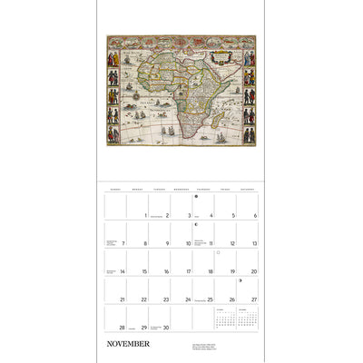 2021 Antique Maps Wall Calendar Inside Page