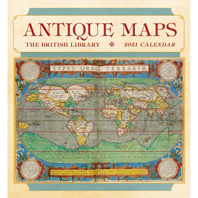 2021 Antique Maps Wall Calendar Cover