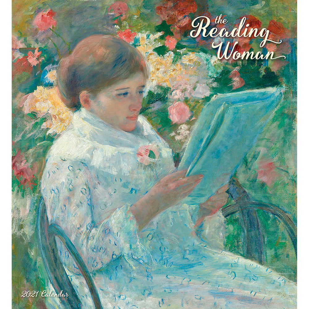 2021 Reading Woman Wall Calendar Cover
